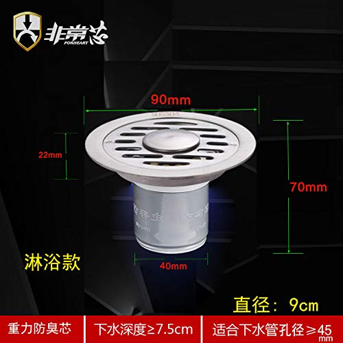 HAPPYW-W Bodenablauf Küche Keller Garage Balkon Waschmaschine Bodenablauf (1 Packung), Durchmesser 9 cm -