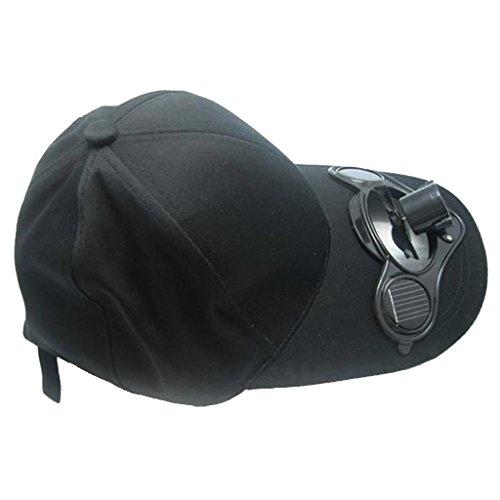 Gazechimp Sommer Outdoor Solar Sonnenenergie Hut Kappe, Kühler Lüfter Ventilator Baseball Cap für Outdoor Sport, Sonnenschutz Kappe