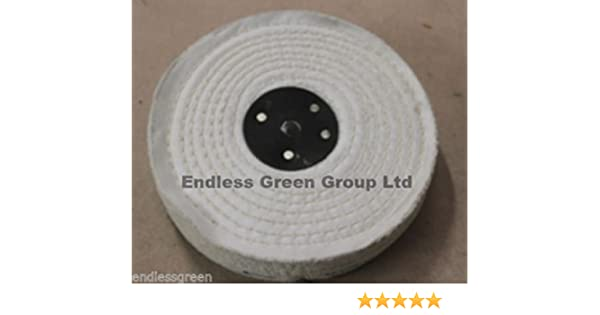 """STITCHED COTTON Buffing Wheel Firm 4 Section Polishing Mop 6/"""" x 2/""""      C150//4"""