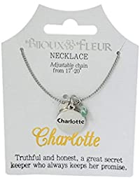 2cb5167f4cfa61 Bijoux Fleur Necklace with The Name Charlotte