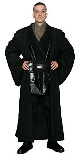 Star Replik Kostüm Wars - Jedi-Robe Star Wars Anakin Skywalker Sith - Körper Tunika mit schwarz REPLIK Star Wars Kostüm - Schwarz, Herren L