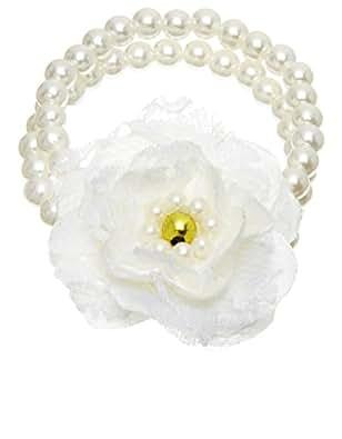 Monsoon Filles Bracelet de perles orné d'une fleur en dentelle Taille Taille unique Ivoire