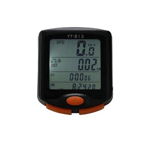 Hangang Fahrradcomputer, wasserdichter Multifunktionsfahrrad-Geschwindigkeitsmesser mit Hintergrundbeleuchtetem Anzeige, 60g drahtloser Multifunktionsfahrrad-Entfernungsmesser