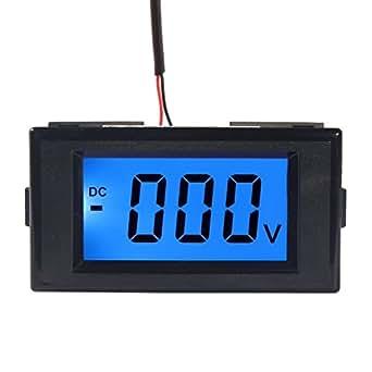 DROK® Voltometro Visualizza DC 0-500V Blu LCD Digital Tester di Tensione