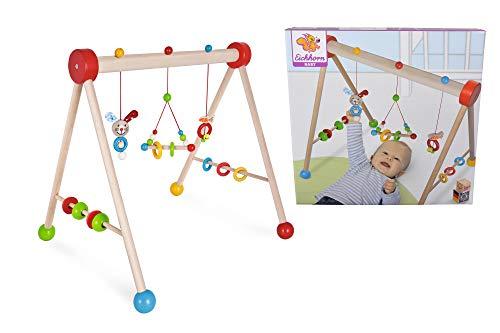 Eichhorn 100017024 - Baby Gym mit Hasenmotiv, 47x51,5x48,5cm, FSC 100% Zertifiziertes Buchenholz, Made in Germany