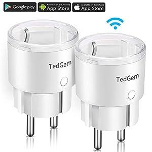 Smart Steckdose, TedGem Alexa Smart Plug Smart Life Steckdose Wlan Smart Steckdose Fernbedienbar Timer, Smart Plug Wlan-steckdose, Funktionert mit Alexa, Google Home, IFTTT