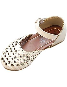 PAOLIAN Verano Zapatos para Niña Princesa Calzado Zapatos de Niñito Antideslizante Suela Blanda Bailarinas Sandalias...