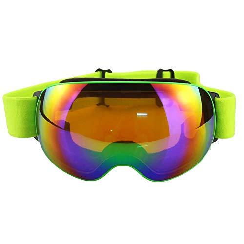 Aienid Sportsonnenbrille Damen Grün Skibrille Winddichter Augenschutz Size:19X10CM