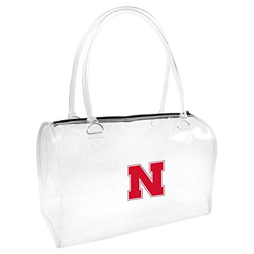Littlearth NCAA Nebraska Cornhuskers Damen Bowler Handtasche, One size, transparent