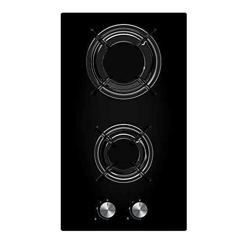 41ko6p8vUYL. SS500  - Cookology Gas-on-Glass Domino Hob GGH300BK | 30cm, Built-in, Black Glass & Auto Ignition