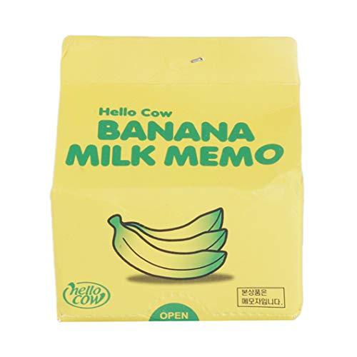 INSEET Einzigartige Milk Box Protokoll-Anmerkung Papier Obst Milch Kaffee Zeichnen Sie Notizen Memo Tragbarer Note Paper School Supplies, Farbe 2 -