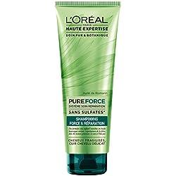 L'Oréal Haute Expertise Pure Force Shampoing Réparateur Fortifiant Cheveux Abimés 250 ml