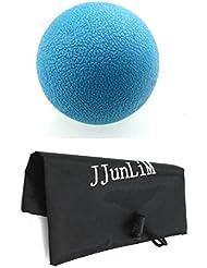 TPE bolas Lacrosse masaje con bolsa de transporte para la espalda y masaje de pies Trigger Point Liberación Miofascial, estrés terapia, Crossfit Fitness, movilidad, calentar, Recovery, reflexología, azul