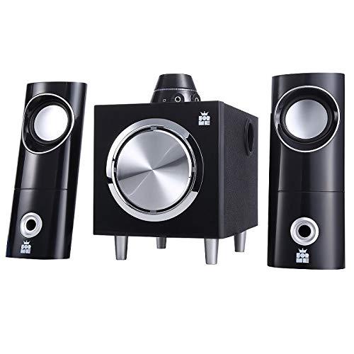 Forme 2.1 Multimedia Lautsprecher | Stereo Soundsysteme | Leistung 18W | Lautsprechersystem mit Subwoofer | für PC Heim-Desktop-Computern | Notebook