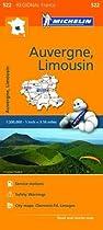 Auvergne Limousin - Michelin Regional Map 522