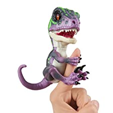 Untamed Raptor by Fingerlings - Razor (Purple) - Interactive Collectible Baby Dinosaur - By WowWee