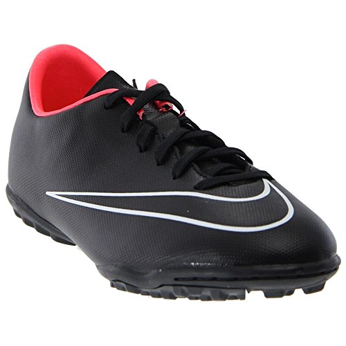 Nike Bambina Jr Mercurial Victory V Tf Pattini Negro / Blanco (Black / Black-Hyper Punch-White)