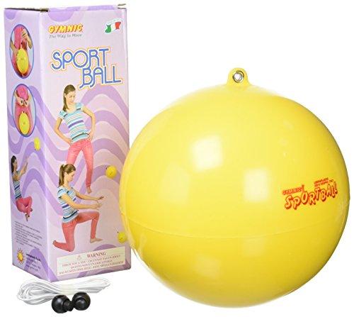 Sportball mit Schnur Spielball Übungsball Gymnastikball Fitnesstrainer 18-21 cm