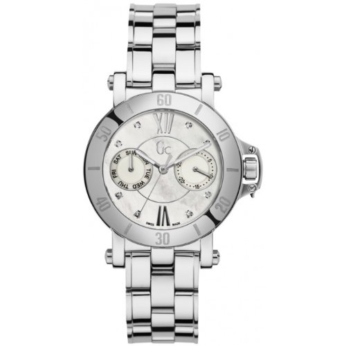 Guess Collection X74103L1S 38mm Diamonds Silver Steel Bracelet & Case Anti-Reflective Sapphire Men's Watch