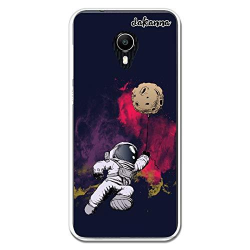 dakanna Custodia Vodafone N9 Lite | Astronauta e Luna | Cover in Gel di Silicone TPU Morbido di Alta qualità...