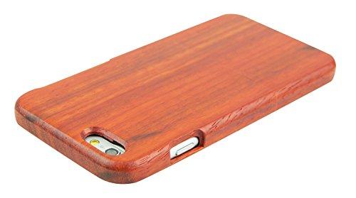 SunSmart Einzigartigen, handgefertigten Original Natural Wood Holzfest Bambus Case/Hülle/Tasche für iPhone 6 4.7''(Farbstreifen) Rosenholz