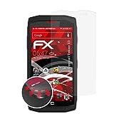 atFolix Schutzfolie passend für Crosscall Trekker X3 Folie, entspiegelnde & Flexible FX Bildschirmschutzfolie (3X)