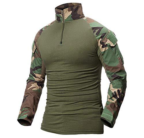 Minetom Hombres Militar Camisa Manga Larga Airsoft...