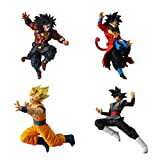 Set Complet 4 Figures Collection Dragonball Versus DB Super Battle 07 Broly Dark Goku Black Goku SS Bandai Gashapon