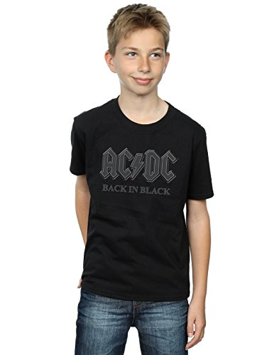 AC/DC niños Back In Black Camiseta 7-8 Years Negro