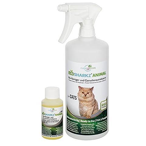 Best Cat Urine Remover Spray - Cleans Litter Tray: Ecosharkz
