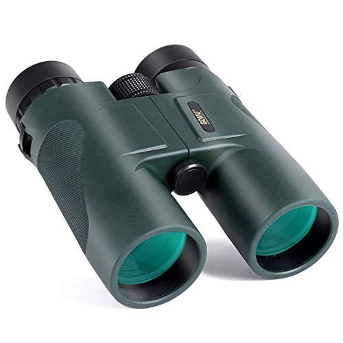 WAVENI 10x42 Fernglas für Erwachsene Kompaktes, HD-faltbares Hochleistungsteleskop für Sternenbeobachtung, Reisen, Jagd und Konzerte mit BAK4 Prism FMC Objektiv (Color : Green)