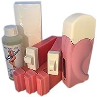 EPILWAX S.A.S - Kit depilación Solo Completo De La Cera Desechables con 3 roll-on para el Corps,1 roll-on para la depilación facial,1 roll-on para depilación de Camiseta