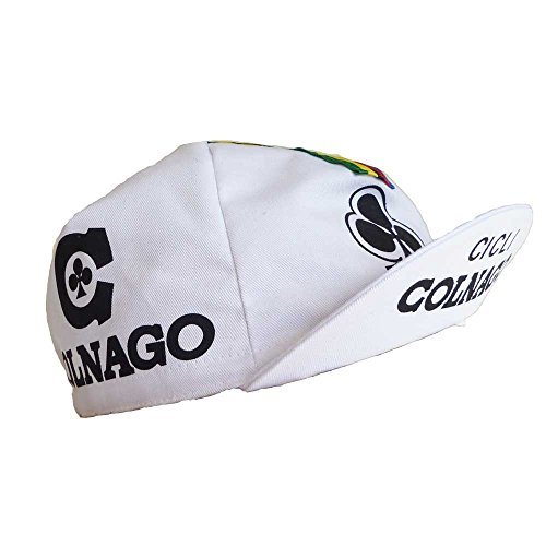 RETRO CYCLE TEAM CAP VINTAGE FIXIE COLNAGO CICLI WHITE BY APIS