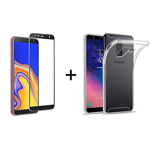 222f95506e5 TBOC Pack: Funda de Gel TPU Transparente + Protector Pantalla 5D Negro para  Samsung Galaxy