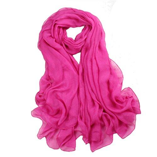 Printemps Et Eté Lady Color Sunscreen Shawl Multicolore Pink5