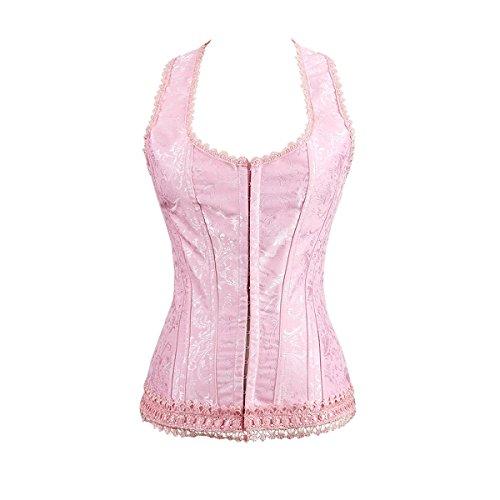 Valin™ Einteilig Rosa Deman Corsage Korsett,Rosa,XXL (Rosa Korsett Kostüme)