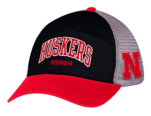 Adidas NCAA Adjustable Slouch Mesh Back Hat Hut (Nebraska Hat)