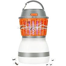 Linterna Camping Antimosquitos Lámpara, KidsHobby 2 en 1 Impermeable y Recargable por USB Linterna que