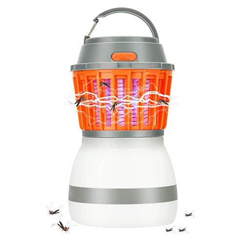 Linterna Camping Antimosquitos Lámpara, KidsHobby 2 en 1 Impermeable y Recargable por USB Linterna que Acampa Tienda de Luz Mosquito asesino para Interiores y Exteriores