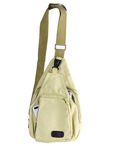 BULAGE Pack Brusttaschen Rucksäcke Männer Leinwand Lässig Schulter Im Freien Gehen Reisen Sport Reisen Leichten Yellow