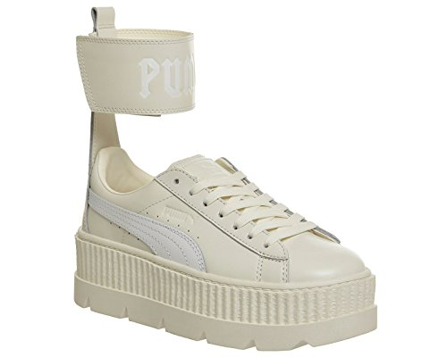 59d818982 Puma FENTY by Rihanna - Ankle Strap Sneaker (38, Vanilla Ice-Puma White
