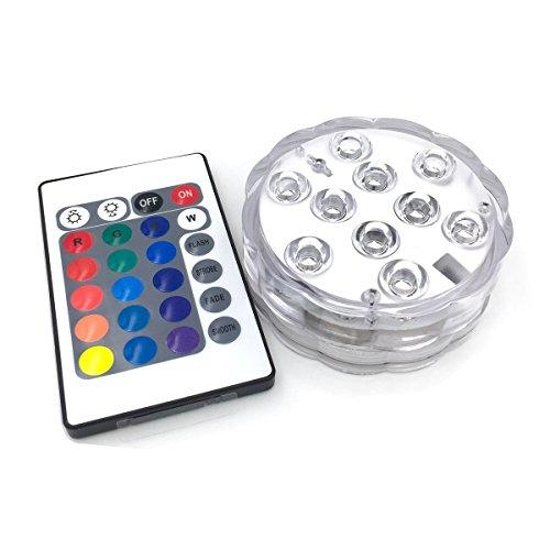e mit Fernbedienung, LED Deko Licht Leuchte Deko Beleuchtung, 16 Farben, Wasserdicht ()