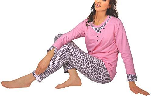 feb9993450ee45 consult-tex. Ensemble de Pyjama Femme 100% Coton Manches Longues