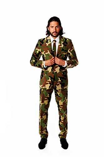 Commando Opposuits Costume UK 44 / EU 54 Suit Adult Fancy Dress (Dress Fancy Commando)