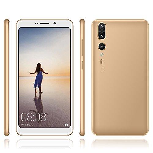 Hyrich SIM - Freien Smartphone Android Gehen 7,0 & 5.7inch MTK6580 1GB Ram + 4GB ROM Dual - SIM - Dual Kamera Webcam / 2mp Offen 3G - Handy (Gold)