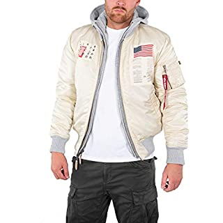 Alpha Industries - MA-1 D-Tec Blood Chit Jacket, Vintage White, XL
