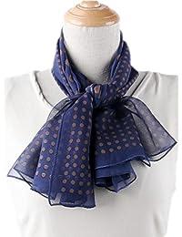 Prettystern - 85cm X85cm foulard en 100% soie à pois dots polka de Points - choix de couleurs