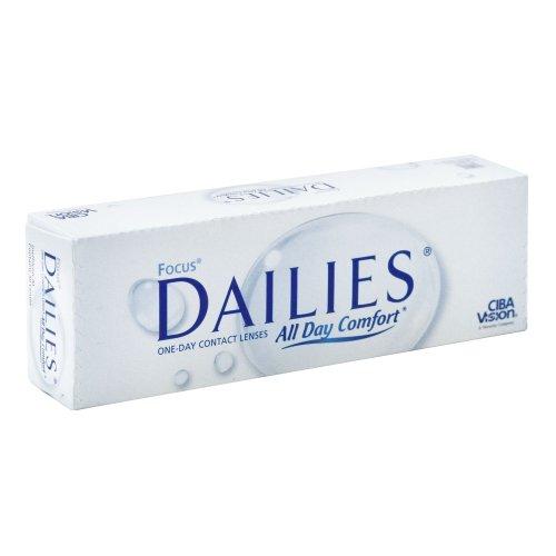 Focus Dailies All Day Comfort Tageslinsen weich, 30 Stück / BC 8.6 mm / DIA 13.8 / -6.5 Dioptrien