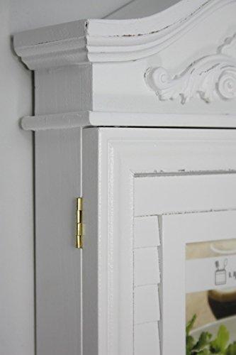 elbmöbel Schlüsselkasten mit Foto und Bilderrahmen in weiß antik aus Holz - 3