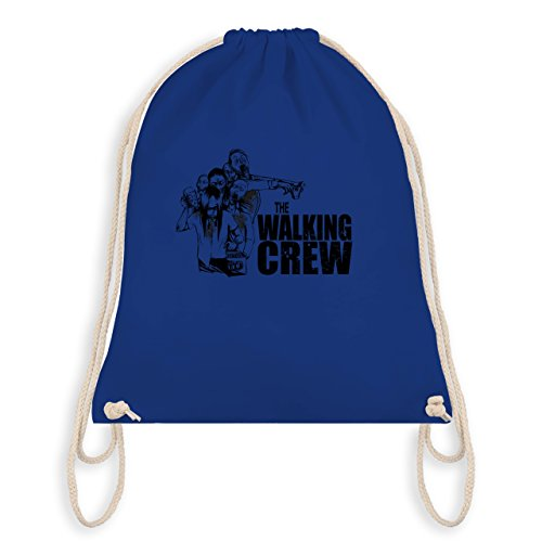 JGA Junggesellenabschied - The Walking Crew - Zombie JGA - Turnbeutel I Gym Bag Royalblau
